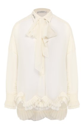 Блузка с оборкой | Фото №1