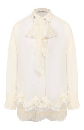 Женская блузка с оборкой PHILOSOPHY DI LORENZO SERAFINI белого цвета, арт. A0208/5717 | Фото 1