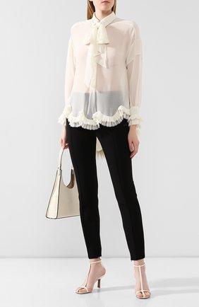 Женская блузка с оборкой PHILOSOPHY DI LORENZO SERAFINI белого цвета, арт. A0208/5717 | Фото 2