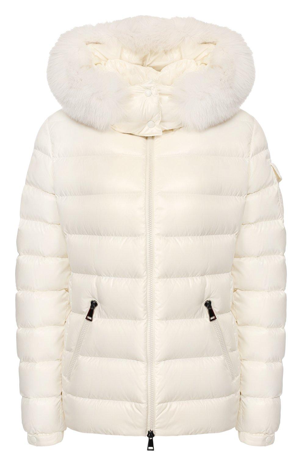 Женский пуховая куртка badyfur MONCLER белого цвета, арт. E2-093-46314-25-C0061 | Фото 1