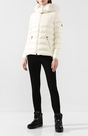 Женский пуховая куртка badyfur MONCLER белого цвета, арт. E2-093-46314-25-C0061 | Фото 2