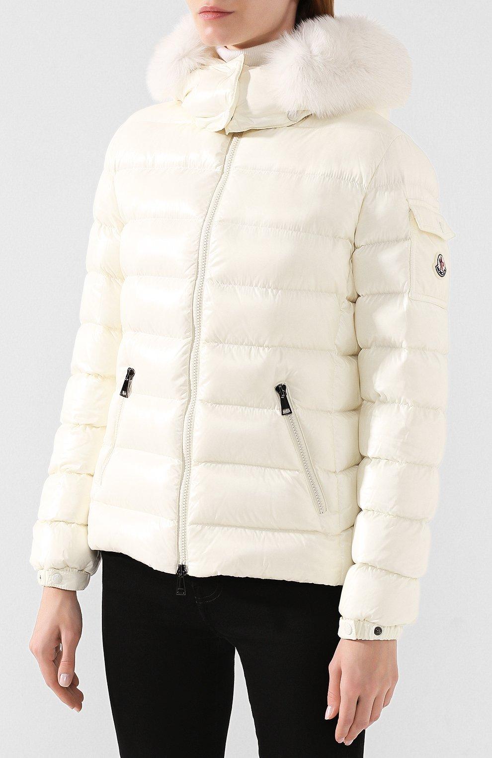 Женский пуховая куртка badyfur MONCLER белого цвета, арт. E2-093-46314-25-C0061 | Фото 3