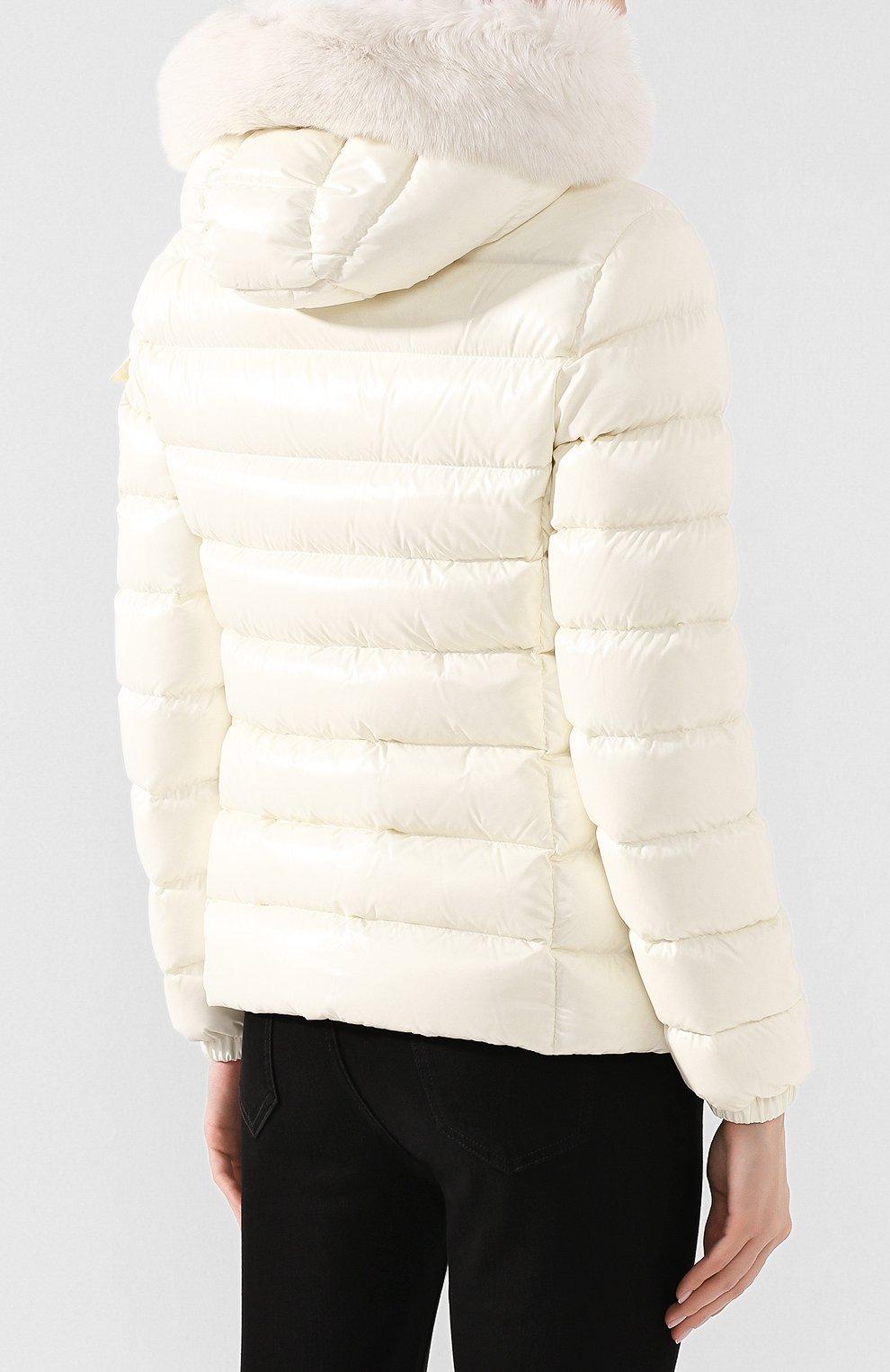 Женский пуховая куртка badyfur MONCLER белого цвета, арт. E2-093-46314-25-C0061 | Фото 4