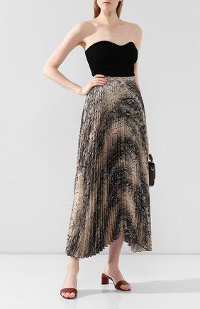 Женская плиссированная юбка WANDERING серого цвета, арт. WGW19307 | Фото 2