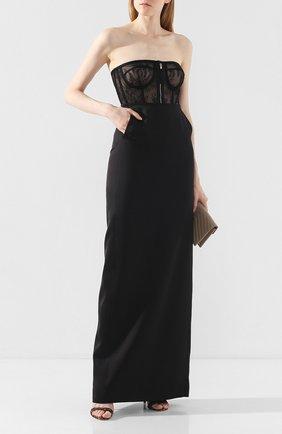 Женская шелковая юбка SAINT LAURENT черного цвета, арт. 589432/Y013G | Фото 2