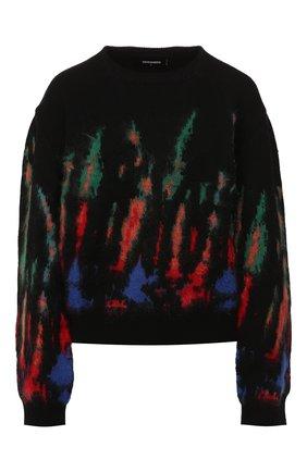 Женская шерстяной свитер DSQUARED2 разноцветного цвета, арт. S72HA0890/S16920 | Фото 1