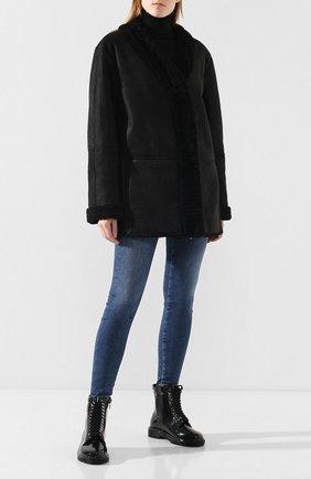 Женская дубленка TWINS FLORENCE черного цвета, арт. TWFAI19GIU10 | Фото 2