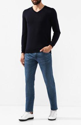 Мужской шерстяной пуловер BOSS темно-синего цвета, арт. 50378576 | Фото 2