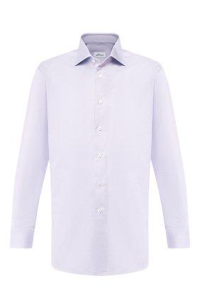Мужская хлопковая сорочка BRIONI сиреневого цвета, арт. RCLU1U/0805A | Фото 1