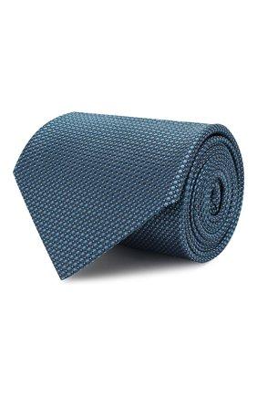 Мужской шелковый галстук BRIONI бирюзового цвета, арт. 062H00/08439 | Фото 1