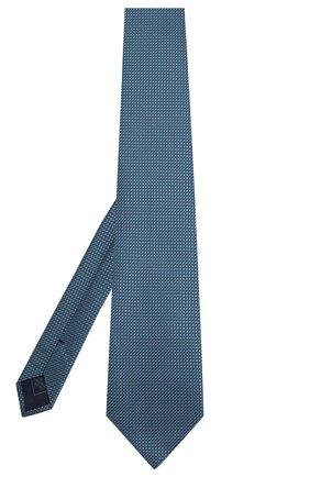 Мужской шелковый галстук BRIONI бирюзового цвета, арт. 062H00/08439 | Фото 2