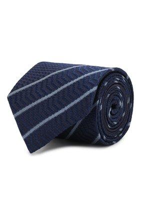 Мужской шелковый галстук ZEGNA COUTURE темно-синего цвета, арт. Z6B04/15C | Фото 1