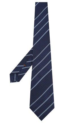 Мужской шелковый галстук ZEGNA COUTURE темно-синего цвета, арт. Z6B04/15C | Фото 2