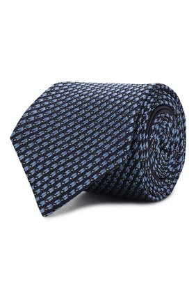 Мужской шелковый галстук ZEGNA COUTURE голубого цвета, арт. Z6B04/15C | Фото 1