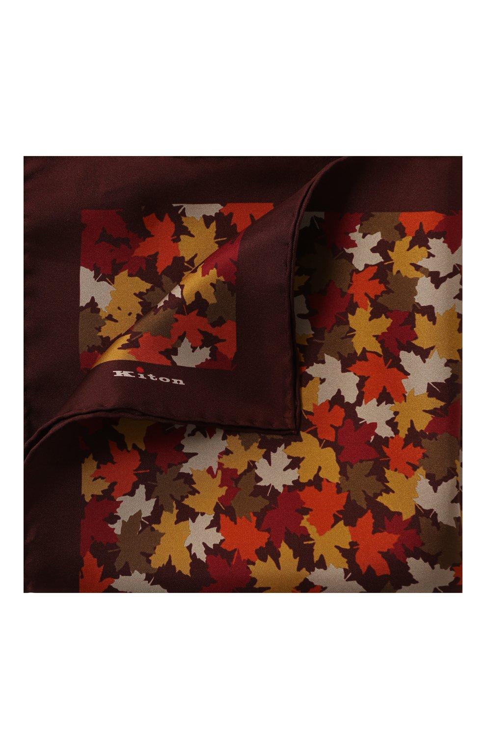 Мужской шелковый платок KITON оранжевого цвета, арт. UP0CHCX02S55 | Фото 1