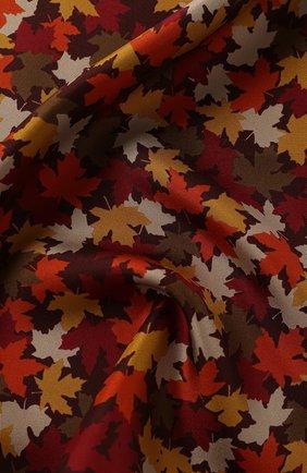 Мужской шелковый платок KITON оранжевого цвета, арт. UP0CHCX02S55 | Фото 2