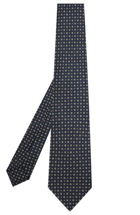 Мужской шелковый галстук KITON темно-синего цвета, арт. UCRVKLC09F49 | Фото 2