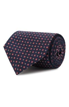 Мужской шелковый галстук KITON темно-синего цвета, арт. UCRVKLC09F49 | Фото 1
