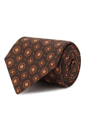 Мужской шелковый галстук KITON коричневого цвета, арт. UCRVKLC09F27 | Фото 1