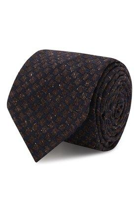 Мужской шелковый галстук KITON коричневого цвета, арт. UCRVKLC09F07 | Фото 1