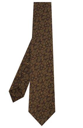 Мужской галстук из смеси шелка и шерсти KITON коричневого цвета, арт. UCRVKLC08F60 | Фото 2