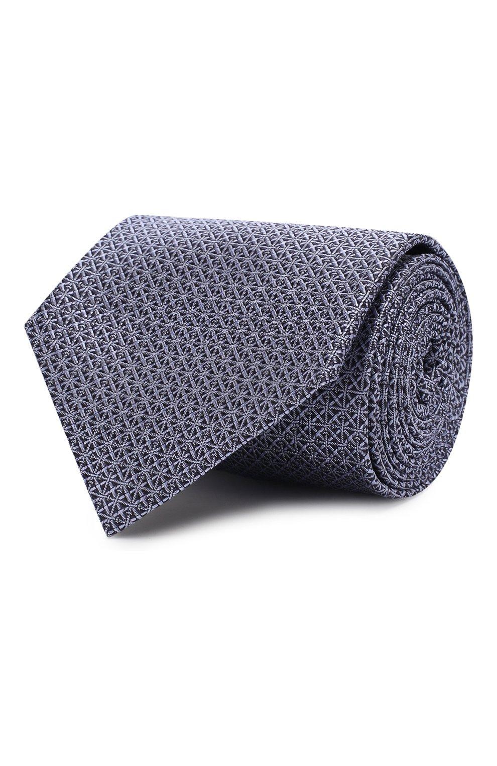 Мужской шелковый галстук BRIONI сиреневого цвета, арт. 062H00/08447 | Фото 1