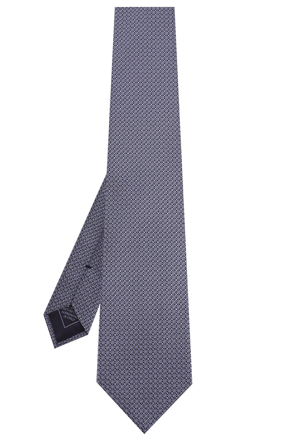 Мужской шелковый галстук BRIONI сиреневого цвета, арт. 062H00/08447 | Фото 2