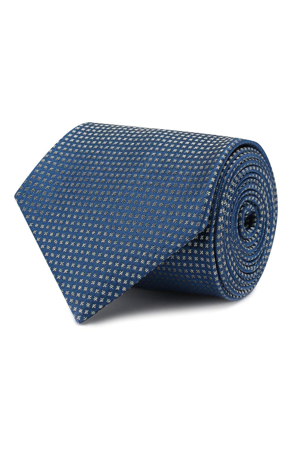 Мужской шелковый галстук BRIONI синего цвета, арт. 062H00/08440 | Фото 1