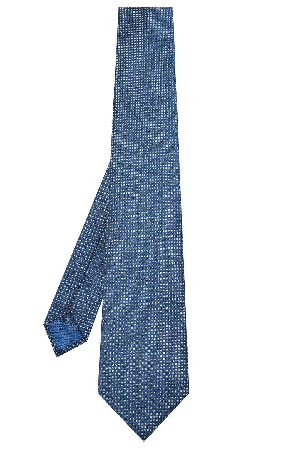 Мужской шелковый галстук BRIONI синего цвета, арт. 062H00/08440 | Фото 2