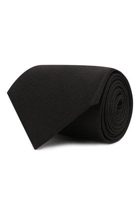 Мужской шелковый галстук BRIONI черного цвета, арт. 062H00/08435 | Фото 1
