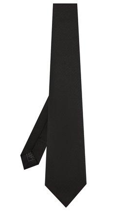 Мужской шелковый галстук BRIONI черного цвета, арт. 062H00/08435 | Фото 2