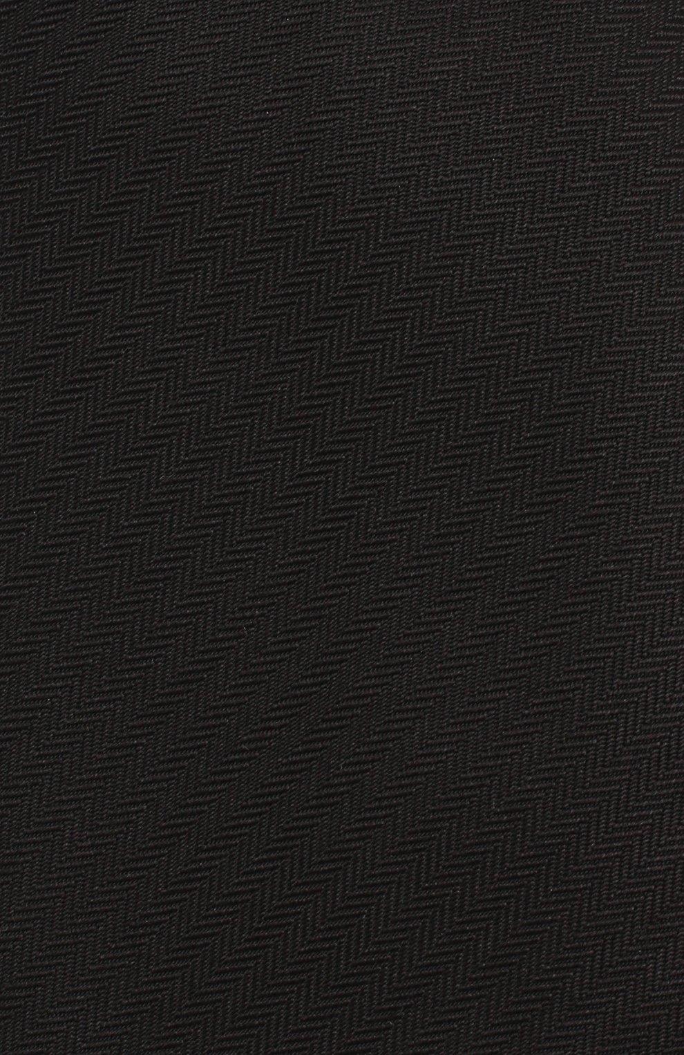 Мужской шелковый галстук BRIONI черного цвета, арт. 062H00/08435 | Фото 3