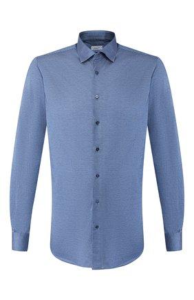 Мужская хлопковая сорочка ZILLI синего цвета, арт. MFS-00301-56052/RJ01 | Фото 1