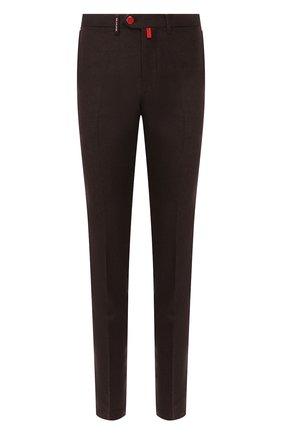 Мужской шерстяные брюки KITON коричневого цвета, арт. UFPP79K01S28   Фото 1