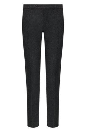 Мужские брюки из шерсти и кашемира ANDREA CAMPAGNA черного цвета, арт. SC/1/FA2064 | Фото 1 (Материал внешний: Шерсть; Длина (брюки, джинсы): Стандартные; Материал подклада: Купро; Статус проверки: Проверена категория, Проверено; Случай: Повседневный; Стили: Кэжуэл)