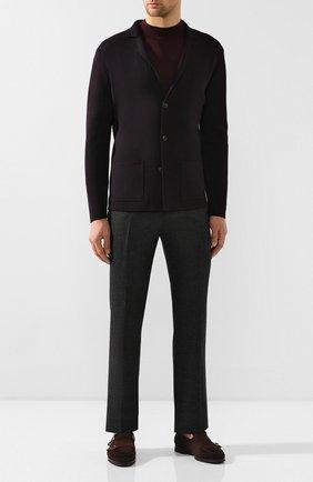 Мужские брюки из шерсти и кашемира ANDREA CAMPAGNA черного цвета, арт. SC/1/FA2064 | Фото 2 (Материал внешний: Шерсть; Длина (брюки, джинсы): Стандартные; Материал подклада: Купро; Статус проверки: Проверена категория, Проверено; Случай: Повседневный; Стили: Кэжуэл)