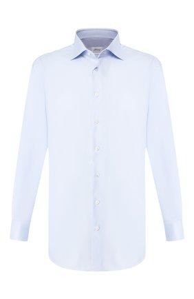 Мужская хлопковая сорочка BRIONI голубого цвета, арт. RCLU20/P7001 | Фото 1