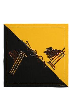 Мужской шарф из смеси кашемира и шелка RALPH LAUREN разноцветного цвета, арт. 791773353 | Фото 1