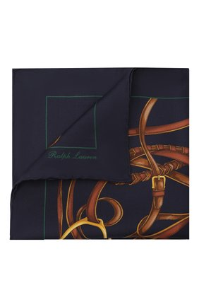 Мужской шелковый платок RALPH LAUREN темно-синего цвета, арт. 791773349 | Фото 1
