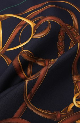 Мужской шелковый платок RALPH LAUREN темно-синего цвета, арт. 791773349 | Фото 2