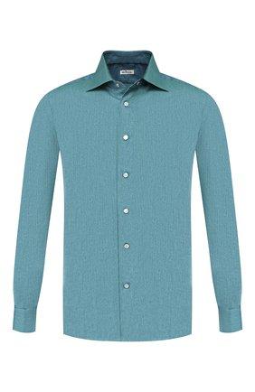 Мужская хлопковая рубашка KITON зеленого цвета, арт. UMCNERCH0713103 | Фото 1