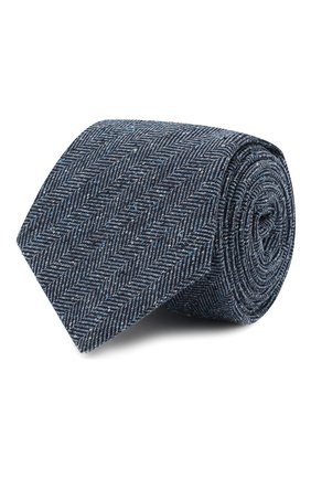 Мужской шелковый галстук KITON синего цвета, арт. UCRVKLC09F02 | Фото 1