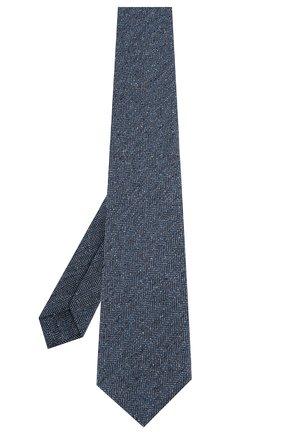 Мужской шелковый галстук KITON синего цвета, арт. UCRVKLC09F02 | Фото 2