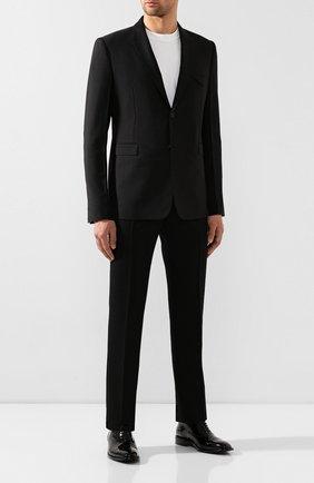 Мужские кожаные оксфорды BALENCIAGA черного цвета, арт. 562604/WA8M0 | Фото 2