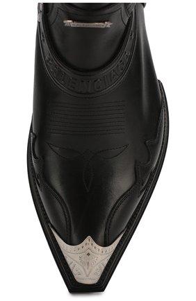 Мужские кожаные казаки harness BALENCIAGA черного цвета, арт. 562603/WA921 | Фото 5