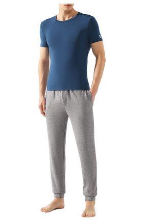 Мужские футболка ERMENEGILDO ZEGNA синего цвета, арт. N3M200850 | Фото 2