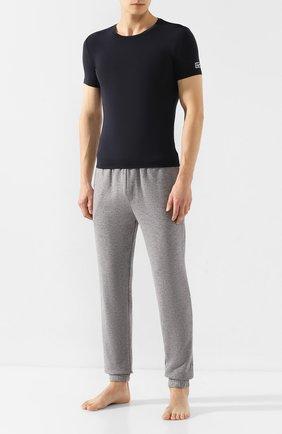 Мужские футболка ERMENEGILDO ZEGNA темно-синего цвета, арт. N3M200850 | Фото 2