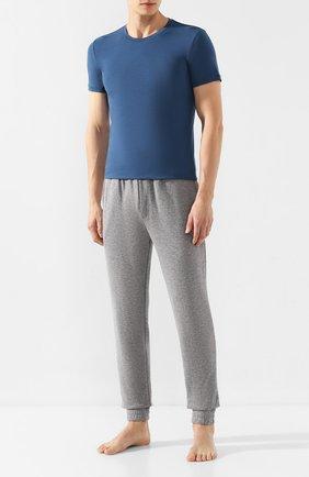Мужские футболка ERMENEGILDO ZEGNA синего цвета, арт. N3M200820 | Фото 2