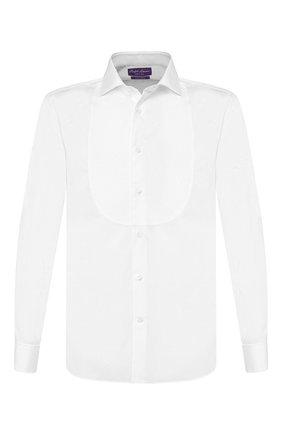 Мужская хлопковая сорочка RALPH LAUREN белого цвета, арт. 791770404 | Фото 1