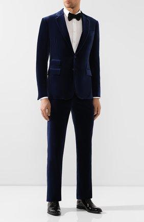 Мужской хлопковые брюки RALPH LAUREN темно-синего цвета, арт. 798780321 | Фото 2